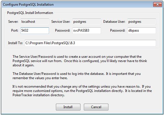 PostgreSQL Default Settings