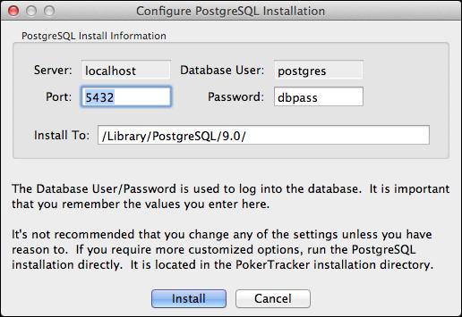 Configure PostgreSQL