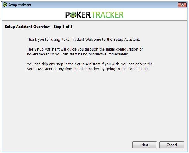 Poker Tracker 4 Setup Assistant